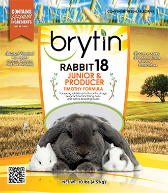 Brytin® Rabbit 18 – Junior & Producer Timothy Formula